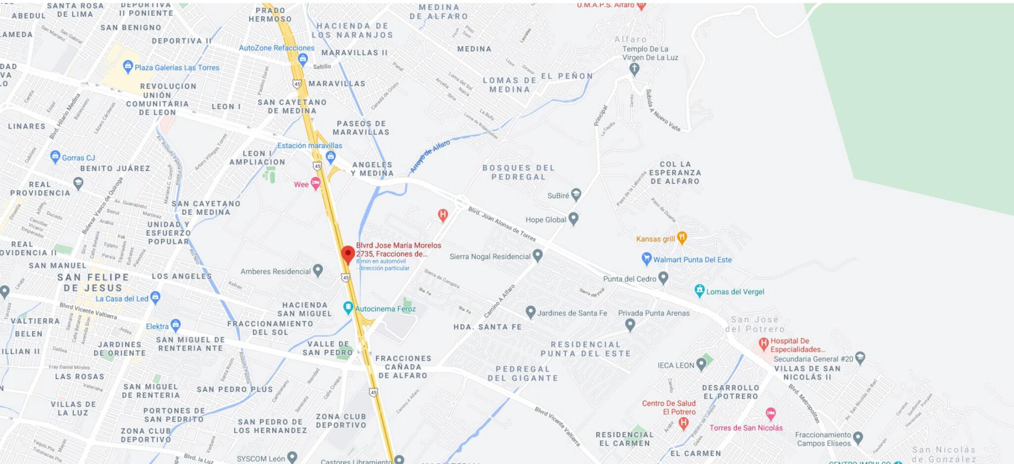 mapa ubicación Concreco